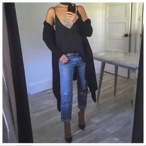 Free People Black Cardigan Small